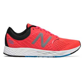 New Balance Fresh Foam Zante v4, Vivid Coral with Black & Maldives Blue
