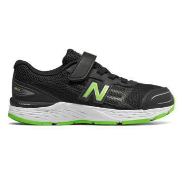 New Balance 680v5, Black with RGB Green