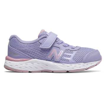 New Balance Hook and Loop 680v5, Clear Amethyst with Oxygen Pink