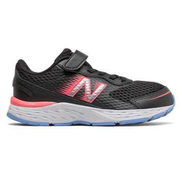 New Balance 680v6, Black with Tahitian Pink & Team Carolina