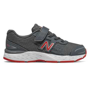 New Balance Hook and Loop 680v5, Lead with Red