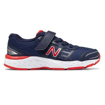 New Balance Hook and Loop 680v5, Pigment with Velocity Red