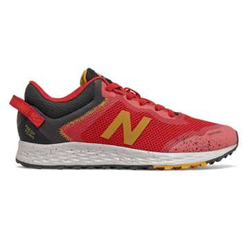 New Balance Fresh Foam Arishi Trail, Toro Red with Black & Varsity Gold