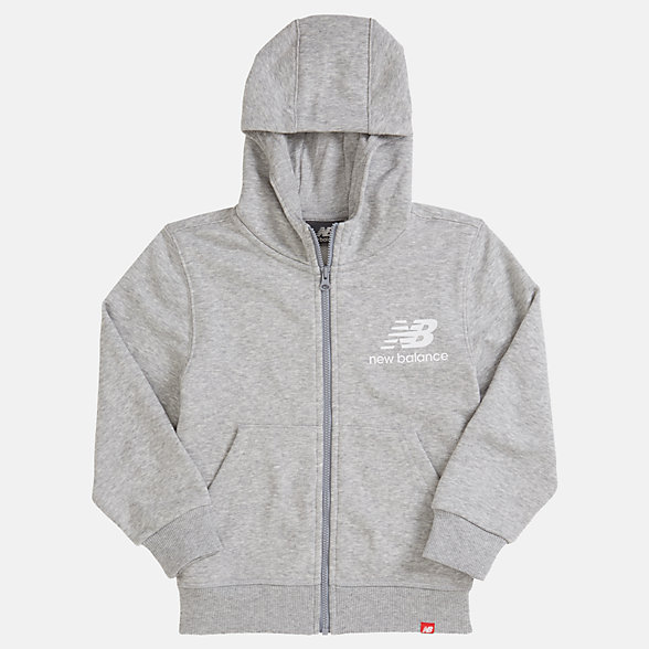 New Balance Youth Essentials Full Zip Hoodie, YJ93500AG