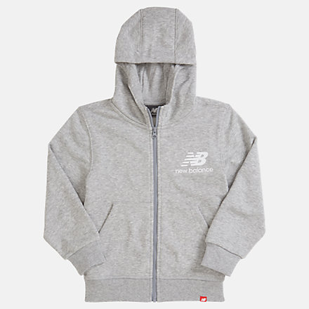 New Balance Youth Essentials Full Zip Hoodie, YJ93500AG image number null