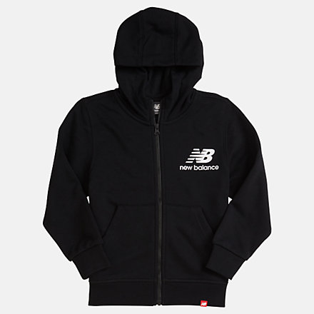 NB Youth Essentials Full Zip Hoodie, YJ93500BK image number null