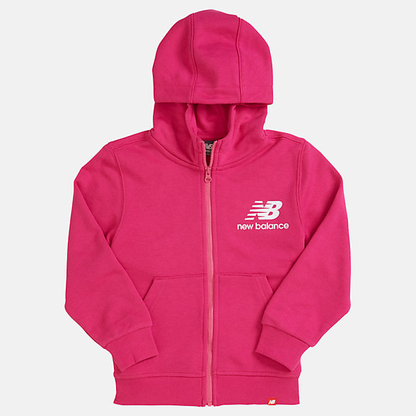 New Balance Youth Essentials Full Zip Hoodie, YJ93500CNV
