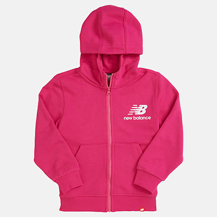 New Balance Youth Essentials Full Zip Hoodie, YJ93500CNV image number null