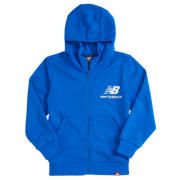 New Balance Youth Essentials Full Zip Hoodie, Vivid Cobalt