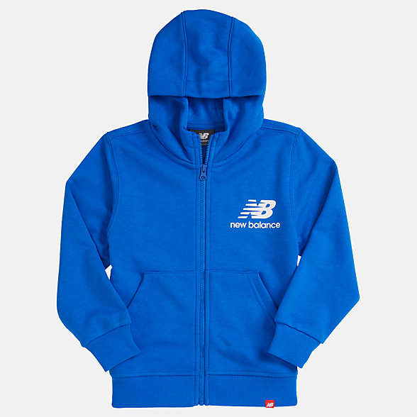 New Balance Youth Essentials Full Zip Hoodie, YJ93500VCT