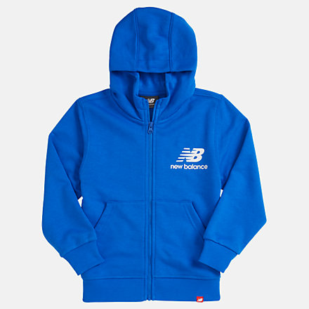 New Balance Youth Essentials Full Zip Hoodie, YJ93500VCT image number null