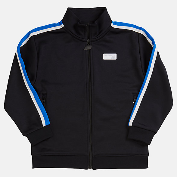NB Youth NB Athletics Track Jacket, YJ93502BK