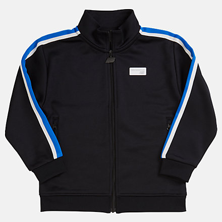 NB Youth NB Athletics Track Jacket, YJ93502BK image number null