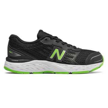 New Balance 680v5, Black with RGB Green