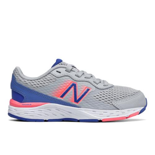 New Balance 680v6 - Niñas EU 22, Grey/Blue/Pink