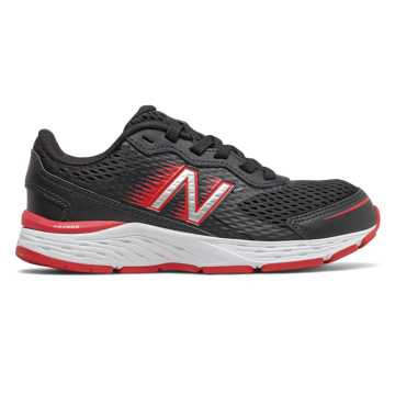 New Balance 680v6, Black with Team Red