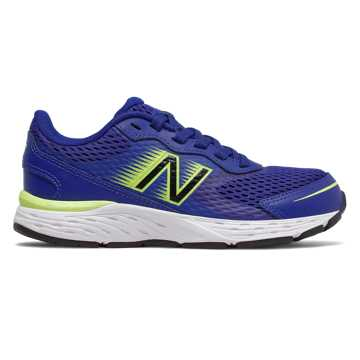 New Balance 680v6, Marine Blue with Lemon Slush & Black