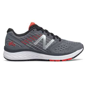 New Balance 860, Gunmetal with Energy Red