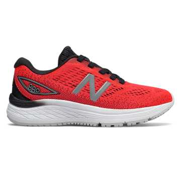 New Balance 880v9, Energy Red with Black