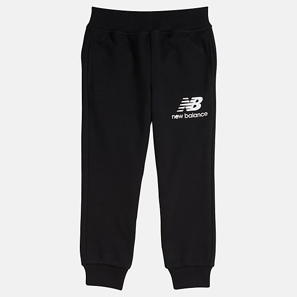 NB Youth Essentials Stacked Sweatpant, YP93500BK
