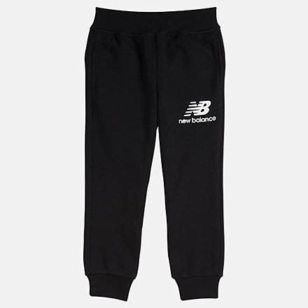 NB Youth Essentials Stacked Sweatpant, YP93500BK image number null