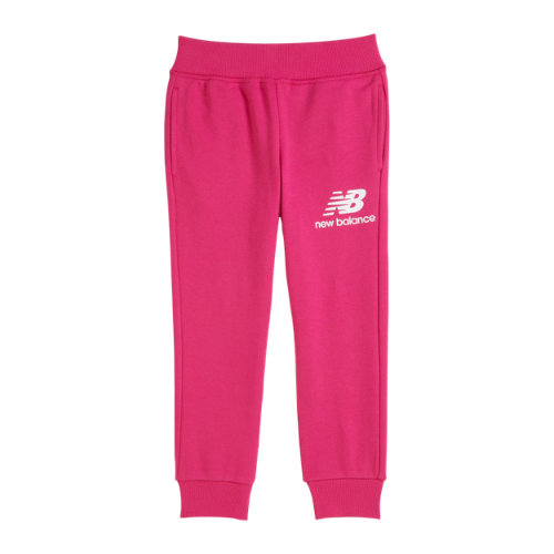New Balance Niño Youth Essentials Stacked Sweatpant - Pink, Pink