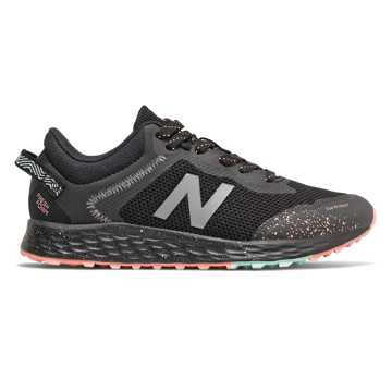 New Balance Fresh Foam Arishi Trail, Black with Bali Blue & Ginger Pink