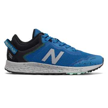 New Balance Fresh Foam Arishi Trail, Neo Classic Blue with Black & Hula Green