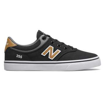New Balance Numeric 255, Black with Brown