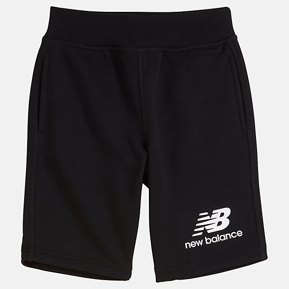 New Balance Short en molleton superposé Essentials pour jeunes, YS93500BK