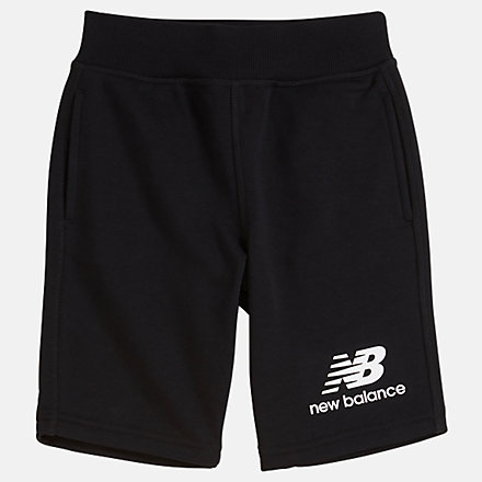 New Balance Youth Essentials Stacked Fleece Short, YS93500BK image number null
