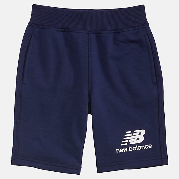 New Balance Short en molleton superposé Essentials pour jeunes, YS93500PGM