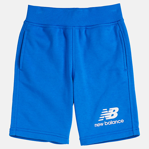 New Balance Short en molleton superposé Essentials pour jeunes, YS93500VCT