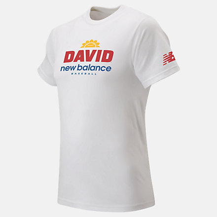 New Balance Youth David X NB Tee, YT11702WT image number null