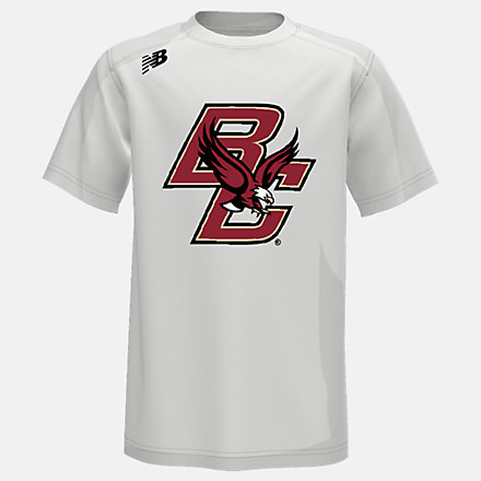 New Balance Youth NB Short Sleeve Tech Tee(Boston College), YT500BCBWT image number null
