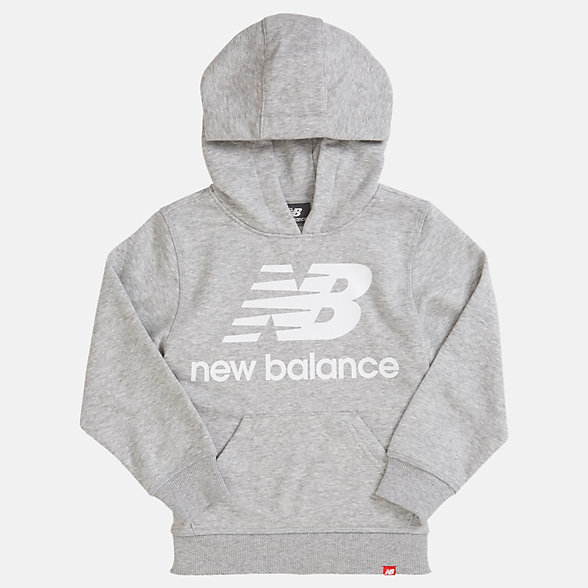 New Balance Youth Essentials Stacked Po Hoodie, YT93500AG