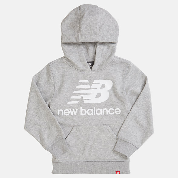 NB Youth Essentials Stacked Po Hoodie, YT93500AG