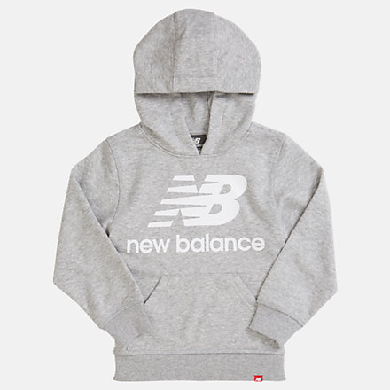 NB Youth Essentials Stacked Po Hoodie, YT93500AG image number null