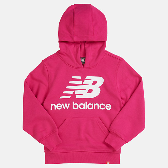 NB Youth Essentials Stacked Po Hoodie, YT93500CNV