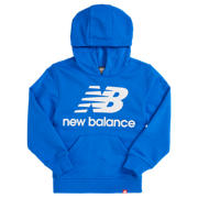 New Balance Youth Essentials Stacked Po Hoodie, Vivid Cobalt