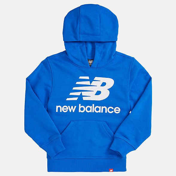 NB Youth Essentials Stacked Po Hoodie, YT93500VCT