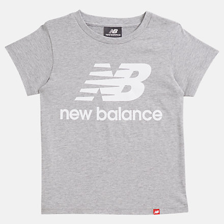 NB Youth Essentials Stacked Logo Tee, YT93501AG image number null