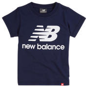New Balance Youth Essentials Stacked Logo Tee, Pigment