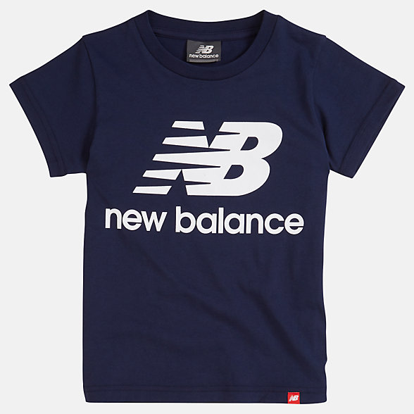New Balance Youth Essentials Stacked Logo Tee, YT93501PGM