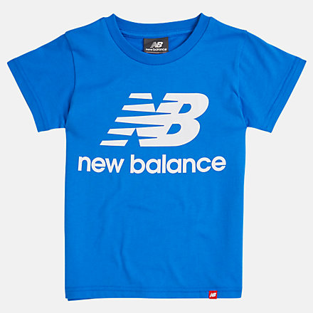 NB Youth Essentials Stacked Logo Tee, YT93501VCT image number null