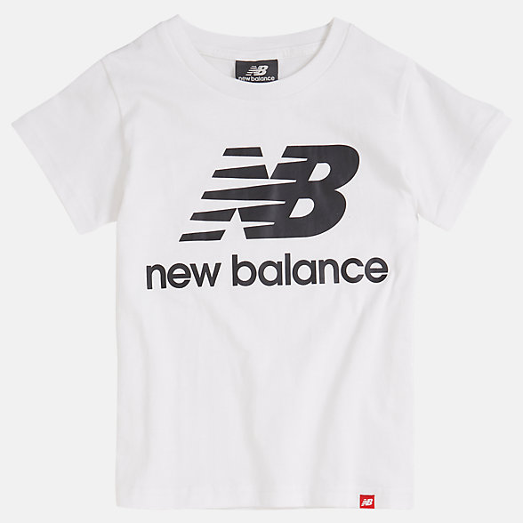 NB Youth Essentials Stacked Logo T-Shirt, YT93501WT