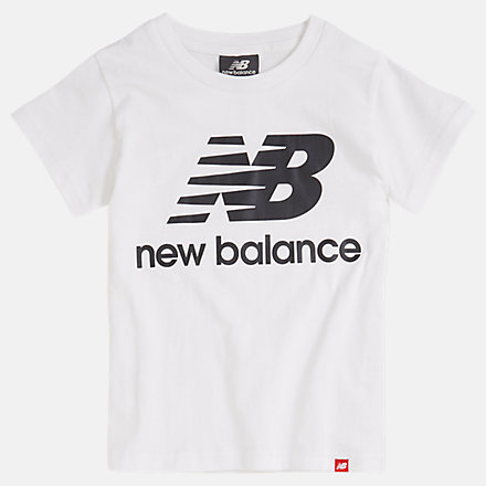 NB Youth Essentials Stacked Logo Tee, YT93501WT image number null