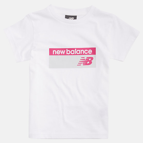 NB Youth NB Athletics Banner Tee, YT93520WM
