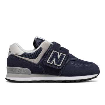New Balance Hook and Loop 574 Core, Navy with White