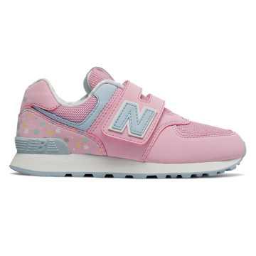 New Balance 574系列經典兒童休閑運動鞋, 芭比粉